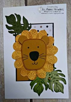 Playful Pals and Pyramid Pals bundle lion note card.