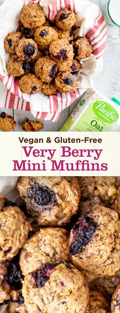Try this simple, delicious recipe for Vegan & Gluten-Free Mini Muffins with Pacific Foods Organic Oat Plant-Based Beverage. Perfect for healthy Easter treats! Quick Healthy Snacks, Healthy Eats, Simple Snacks, Mini Muffins, Easter Treats, Veganism, Vegan Gluten Free, Candies, Beverage