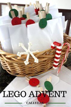 LEGO 25 Days of Christmas Countdown Calendar Advent - what a great idea for a creative advent calendar!