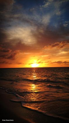 Sunset at Carimar Beach Club in Anguilla..  Photo Credit:  Ellen Beauchamp