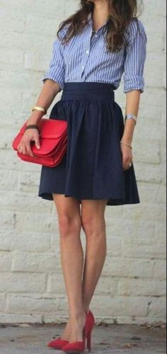 This with a midi skirt