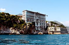 The Oceanographic Museum of Monaco, view from the Mediterranean .  Monaco Adds Art to Its Seaside Allure