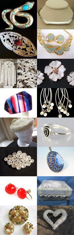 Saturday Night Vintage Fashion Gift Guide by TeamLove on Etsy--Pinned with TreasuryPin.com