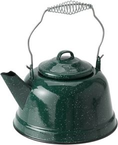 Enjoy a steamy brew at home, in a cozy cabin or at your campsite with the GSI Outdoors Enamelware tea kettle. Inspired by traditional Graniteware, it blends old-fashioned charm and rugged performance. Available at REI, Satisfaction Guaranteed. Cast Iron Pot, Cast Iron Cookware, Cozy Cabin, Make It Simple, Tea Pots, Outdoors, Tea Kettles, Budget Plan, Farm Houses
