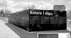 deathternity: Before I Die Walls-Bucket List Public Art