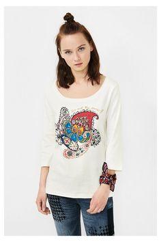 Camiseta blanca con paisley | Desigual.com C