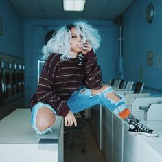 """kieraplease: """"Model: Kieraplease Shot by Lvtrkevin """" Took me awhile to feel comfortable again without dark lipstick or lip liner. I'm proud (:"""