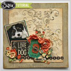 Sizzix Tutorial | Pet Layout Tutorial by Jan Hobbins