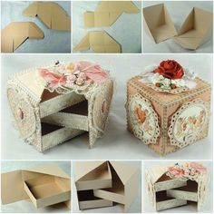 How about a stunningly beautiful secret jewelry box you can make at home from just a few basic supplies? The post Beautiful Secret Jewelry Box Made from Cardboard appeared first on The Perfect DIY. Diy Paper, Paper Crafts, Jewellery Box Making, Diy Jewelry Box, Origami Jewelry, Vintage Jewelry, Diy And Crafts, Arts And Crafts, Secret Box