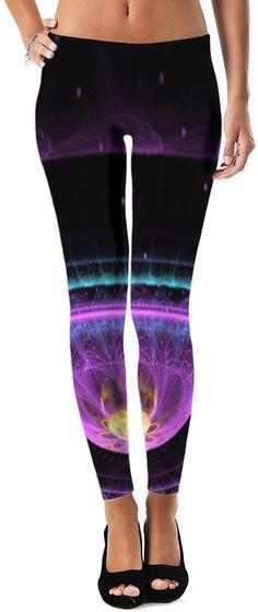 Trippy Cosmic Universe Dubstep Remix Custom Rave Rebel Revolution Street Style Leggings by Willy Badu. On sale for 44.99.