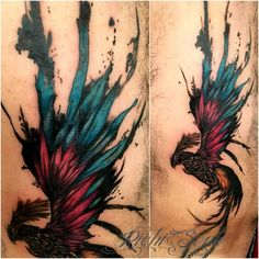 #tattoo #bird #birdtattoo #ave #watercolor #watercolortattoo #acuarela #ink…
