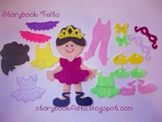 Storybook Felts My Little Ballerina Doll Set.