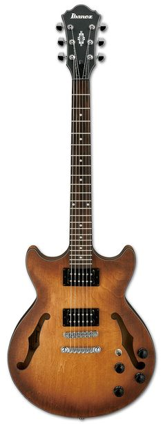 Hollow Bodies AM - AM73B | Ibanez guitar in Tobacco Flat (love this color)