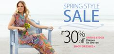 Spring Style Sale - Get up to 30% off on dresses for women + earn 3.40% Cashback at #BeallsFlorida. http://www.retailcashback.com/coupons/bealls-department-store/