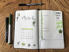 March monthly bullet journal layout! BUJO