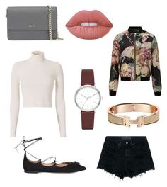 """Casual"" by abbyharris26 on Polyvore featuring Alexander Wang, A.L.C., Salvatore Ferragamo, DKNY, Miss Selfridge and Lime Crime"