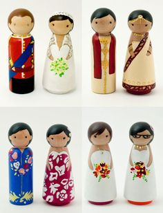 Bespoke Wedding cake toppers from Lil' Cake Toppers lilcaketoppers.com