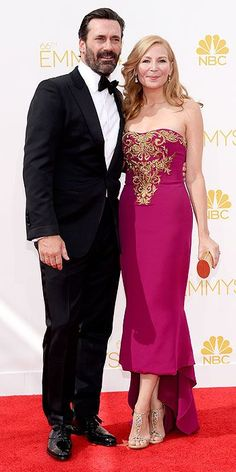 Jon Hamm and Jennifer Westfeldt - Emmy Awards 2014