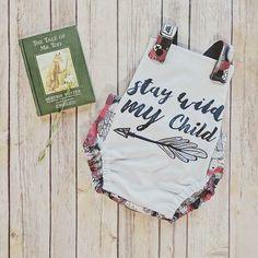 ***  Pictured: Red Wilderness Summer Romper(available on Etsy), Cuffed Booties and Bandana Bib in Unicorn Dream  ***  .  .  .  .  .  #runaboutclothing #cutethingsforcutepeople #handmade #kidsfashion #babyfashion #childhoodunplugged #toddlerfashion #letthembelittle #babyclothes #candidchildhood #shopsmall #momlife #supportsmallbusiness #thatsdarling #babiesofinstagram #supporthandmade #babyootd #momswithcameras #smallbusiness #kidsclothes #brindleandtwig #baby #crunchymama #moth...