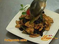 Fafülgombás csirke recept - YouTube Beef, Chicken, Youtube, Food, Meat, Essen, Meals, Youtubers, Yemek