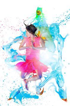 Color Wave by Yanzhou Bao, via Behance