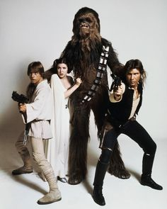 Squad goals - Luke, Leia, Han, and Chewbacca - A New Hope