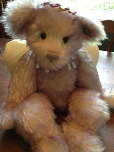Mint With Tag And Crystal Angel Mini Bear Annette Funicello Annette Funicello White Angel Bear