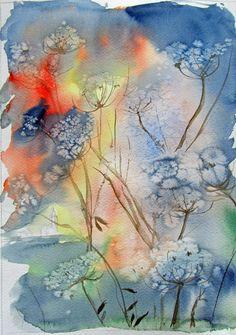 Pack of 100 Watercolor Velvet Resist Art Prints
