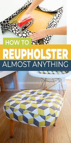 Furniture Projects, Furniture Makeover, Home Projects, Home Furniture, Furniture Chairs, How To Reupholster Furniture, Re Upholster Chair, Diy Furniture Upholstery, Redo Chairs