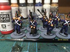 Portuguese Artillery Part 1 Vallejo Paint, Sword Hilt, White Belt, Brush Cleaner, Portuguese, Soldiers, Black And Brown, Modeling