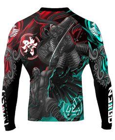 Raven Fightwear Men/'s Earth Dragon Rash Guard MMA BJJ Black