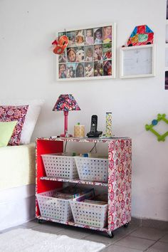 Aplicando tecido em um móvel. Tutorial #DIY #Craft Fácil e lindo, direto do blog da @Evinha Caroline