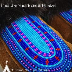 It all starts with one little bead. Indian Beadwork, Native American Beadwork, Native American Art, Native Design, Pow Wow, Indigenous Art, Beading Tutorials, Awesome Things, Leather Working