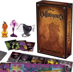 disney villains : Ravensburger Disney Villainous: Evil Comes Prepared Strategy Board Game for Age 10 & Up - Stand-Alone & Expansion to The 2019 Toty Game of The Year Award Winner - 2020 Toty Game of The Year Finalist: Toys & Games Rpg Board Games, Gifts For Disney Lovers, Wicked, Disney Games, Disney Fun, Disney Stuff, Walt Disney, Action Cards, Adult Party Games