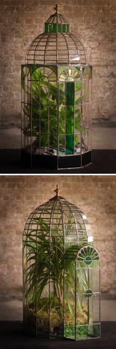 Exquisite Terrariums Crafted With Stained Glass by Keith Baddams