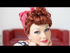 Kandee Johnson S Lucille Ball Diy About Face Ball Hairstyles Ball Makeup Hair Styles