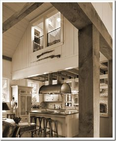 The Gaskin Residence, floor plan and ideas. Great house! Barn-style...what we are thinking.