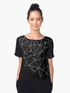 """Ab Storm Black and Grey"" Chiffon Tops by ProjectM 