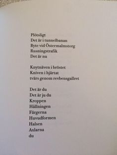 Hanna Persson on More Than Words, Some Words, Words For Girlfriend, Swedish Quotes, Best Quotes, Love Quotes, Words Quotes, Sayings, Different Quotes