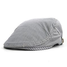 New 2017 Cotton Newsboy Cap Men Women Spring Summer Boinas Masculina Gorras Planas Flat Caps Striped Hats Berets Visor Sunhat