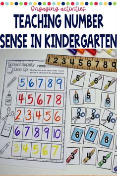 These back to school math centers for kindergarten have easy set up and will last you all month long. Easy organization will work with a rotation chart, math tubs, centers, or just as small group activities. These are easy to use and focus on beginning kindergarten math skills. Kindergarten School Supplies, Beginning Of Kindergarten, Kindergarten Math, Small Group Activities, Hands On Activities, Math Stations, Math Centers, Math Skills, Math Lessons
