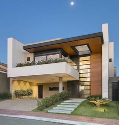 modern minimalist house design ideas for your 32 > Fieltro. Best Modern House Design, Modern Minimalist House, House Front Design, Home Design, Design 24, Modern Villa Design, Design Case, Modern Architecture House, Modern Buildings
