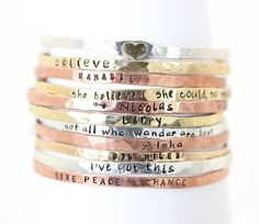 Gift for Her Blessing Bangles Stacking by ChristinaGuenther