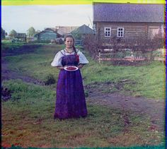 Girl with strawberries. (1909). Photographer and chemist Sergei Mikhailovich Prokudin-Gorskii documented the Russian empire in full color images years before the 1917 revolution.