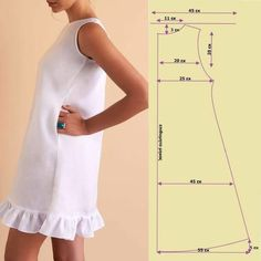 T Shirt Sewing Pattern, Barbie Sewing Patterns, Sewing Patterns Free, Sewing Tutorials, Clothing Patterns, Dress Patterns, Shirt Patterns, Pattern Drafting, Pants Pattern