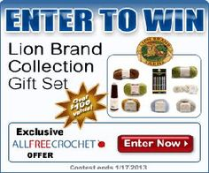 "Win a Lion Brand ""LB Collection"" Gift Set! fabulous projects with the best yarn and hooks. Contest goes until January Good luck! All Free Crochet, Love Crochet, Beautiful Crochet, Diy Projects To Try, Crochet Projects, Craft Projects, Yarn Crafts, Diy Crafts, Lion Brand Yarn"