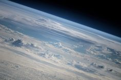 Clouds & Horizon #ISS HQ blog #bluedot http://www.artemjew.ru/2014/06/07/clouds3/ … Picture: Cosmonaut Oleg Artemyev