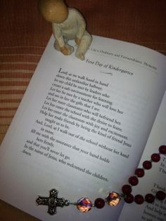 For all my mommy friends today:) First day of Kindergarten prayer (or for any grade really).