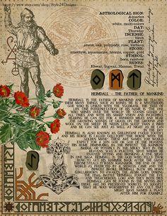 Heimdall Book of Shadows page, Norse Gods & Goddesses Book of Shadows, Printable pages of Norse Gods & Goddesses vol 1 list: Tyr, Balder, Heimdall and Freyja If y Norse Pagan, Pagan Art, Wiccan Spells, Norse Mythology Goddesses, Gods And Goddesses, Viking Culture, Asatru, Tarot, Book Of Shadows