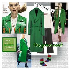 The Must Have Green Coat by stylepersonal on Polyvore featuring polyvore, fashion, style, MANGO, Jil Sander, Boutique Moschino, clothing, GREEN, coat and 2017